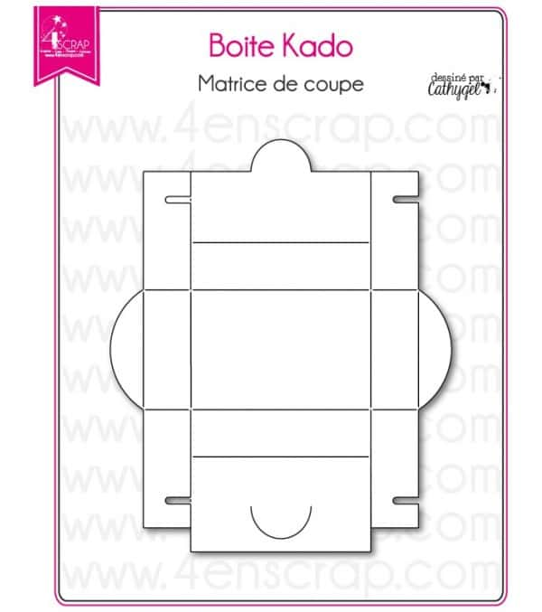 Matrice de coupe Scrapbooking Carterie cadeau rectangle - Boite kado