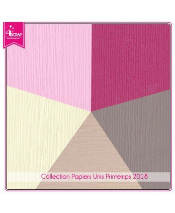 Pack Papier Uni Scrapbooking Carterie - Printemps 2018
