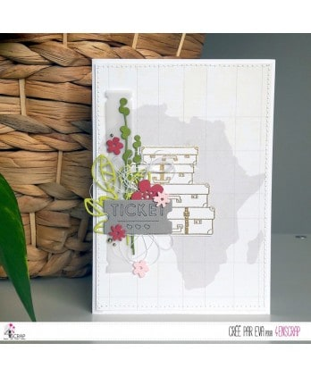 Cutting die Scrapbooking Card making travel holiday - Suitcases