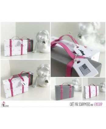 Cutting die Scrapbooking Card making box suitcase - Handles & straps