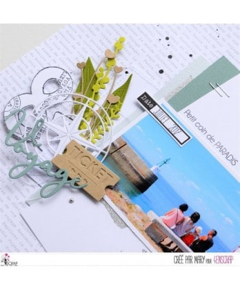 Cutting die Scrapbooking Card making word - Travel 2