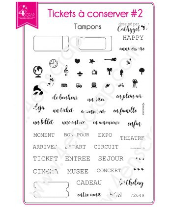 Clear Stamp Scrapbooking Card making travel leisure - Tickets to keep 2