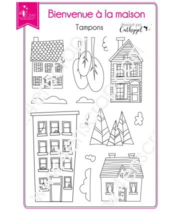 Clear stamp Scrapbooking Card Making house - Welcome home