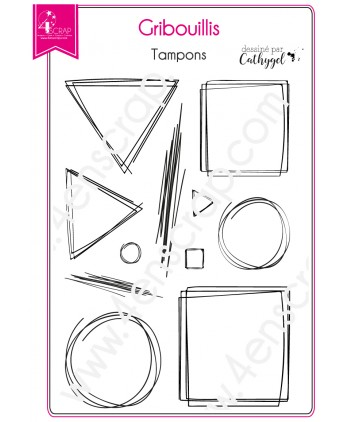 Tampon transparent Scrapbooking Carterie fonds - Gribouillis