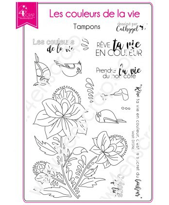 Clear stamp Scrapbooking Card Making wildlife flower - Colors of life