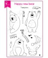 Clear stamp Scrapbooking Card Making wildlife - Happy new bear