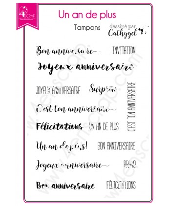 Clear stamp Scrapbooking Card Making birthday - A year more