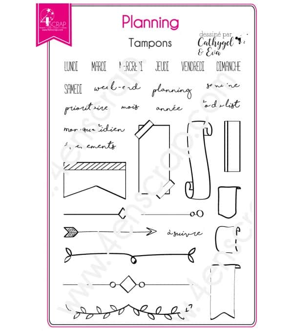 Clear stamp Scrapbooking Card Making planner bullet - Planning