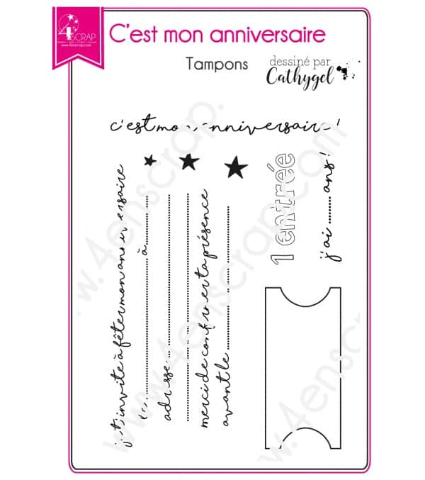 Clear stamp Scrapbooking Card Making - It's my birthday