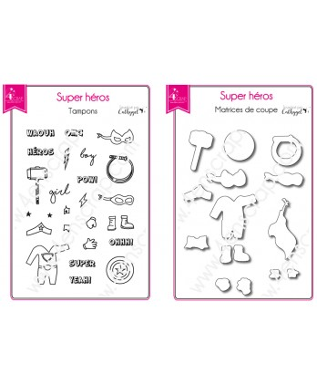 Clear Stamp Die Scrapbooking  Card Making Child - Super hero