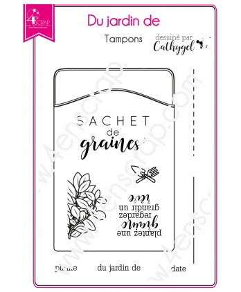 Clear stamp Scrapbooking Card Making flower foliage - From the garden of