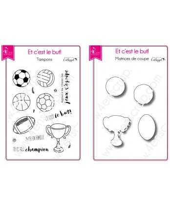 Tampon transparent matrice die Scrapbooking Carterie ballon  - Et c'est le but !