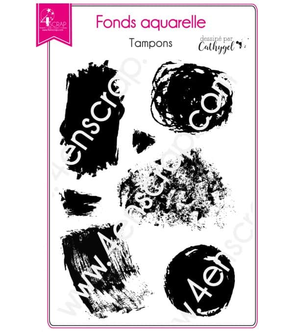 Tampon transparent Scrapbooking Carterie tache - Fonds aquarelle