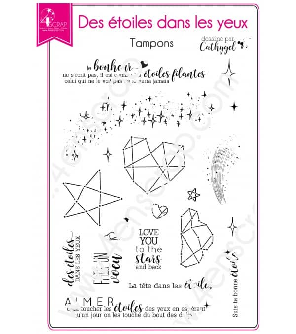 Clear stamp Scrapbooking Card Making universe - Stars in the eyes