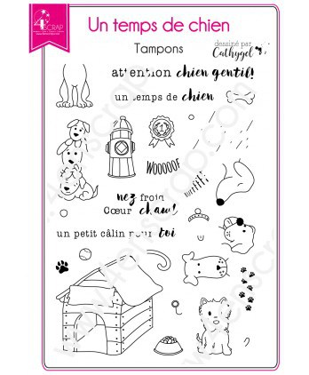 Clear stamp Scrapbooking Card Making pet - It's a dog life