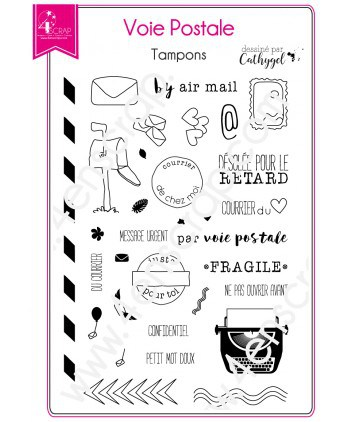 Clear stamp Scrapbooking Card Making typewriter stamp letter - Post
