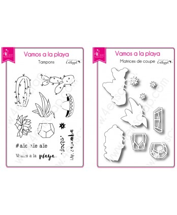 Clear Stamp Die Scrapbooking  Card Making Summer - Vamos a la playa