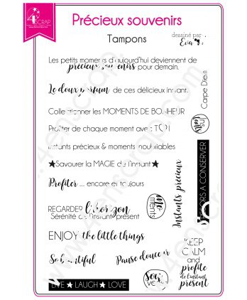 Tampon transparent Scrapbooking Carterie instant photo - Précieux souvenirs