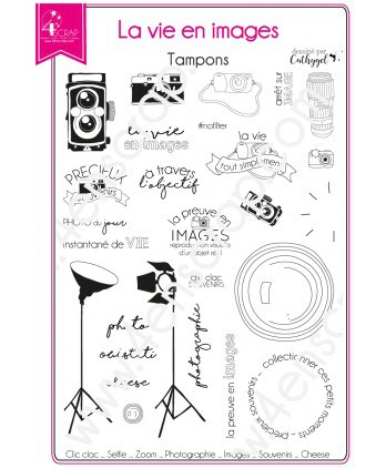 Clear stamp Scrapbooking Card making memory photo - Life in pictures