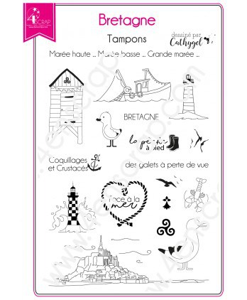 Clear stamp Scrapbooking Card making north west region - Brittany