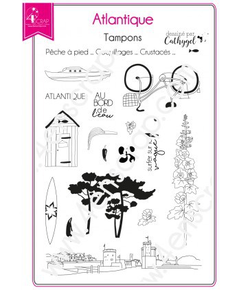 Tampon transparent Scrapbooking Carterie ouest région - Atlantique