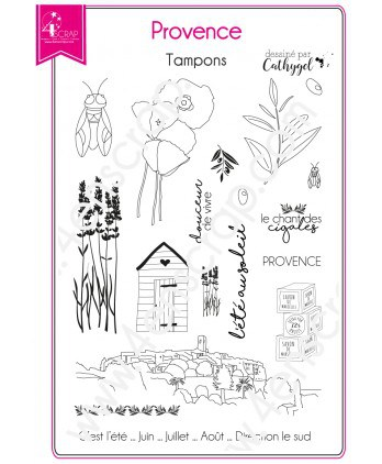 Clear stamp Scrapbooking Card making south region - Provence