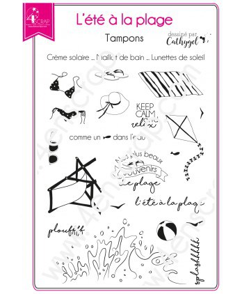 Clear Stamp Scrapbooking Card making sea holidays - Summer at the Beach