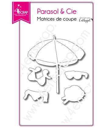Cutting die Scrapbooking Card making beach holidays - Beach umbrella & Co