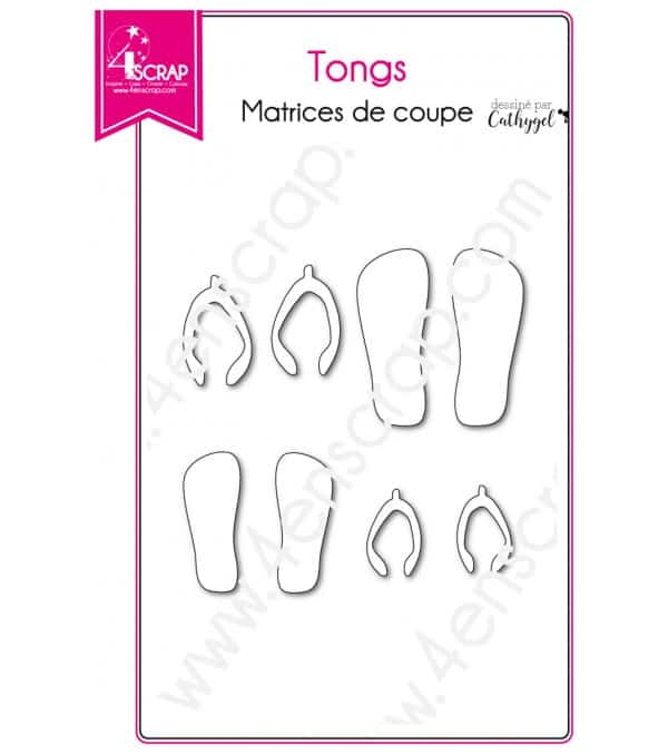 Matrice de coupe Scrapbooking Carterie chaussure plage - Tongs