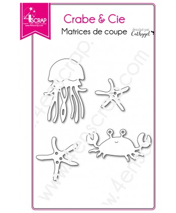 Matrice de coupe Scrapbooking Carterie animal mer - Crabe & Cie
