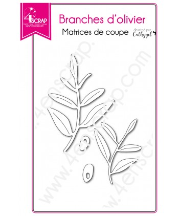 Cutting die Scrapbooking Card making tree provence - Olive branches