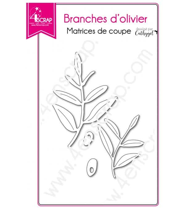 Matrice de coupe Scrapbooking Carterie olive provence - Branches d'olivier