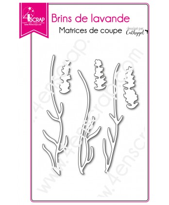 Cutting die Scrapbooking Card making flower provence - Lavender sprigs