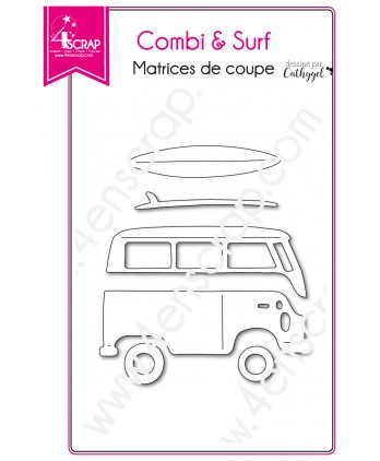 Cutting die Scrapbooking Card making van atlantic - Combi & Surf