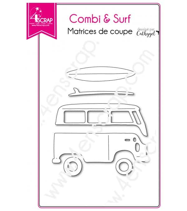 Matrice de coupe Scrapbooking Carterie van atlantique - Combi & surf