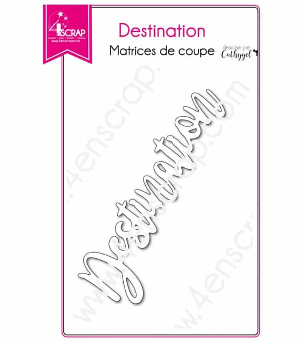 Matrice de coupe Scrapbooking Carterie mot vacances - Destination