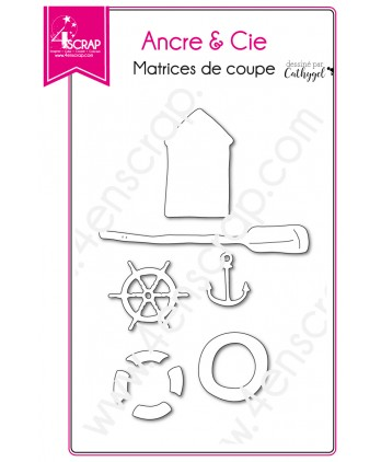 Cutting die Scrapbooking Card making Carterie boat hut - Anchor & Co.