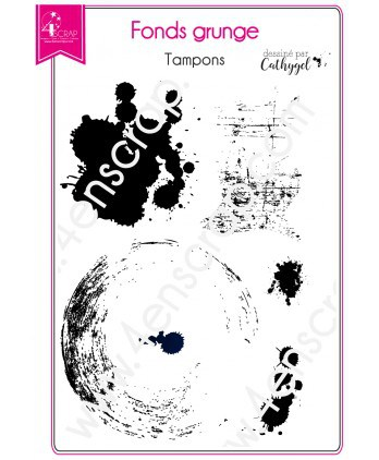 Clear stamp Scrapbooking Card Making -Grunge backgrounds