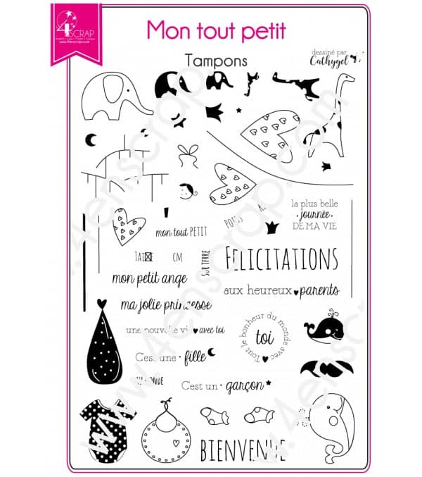 Clear stamp Scrapbooking Card Making family baby - My little one