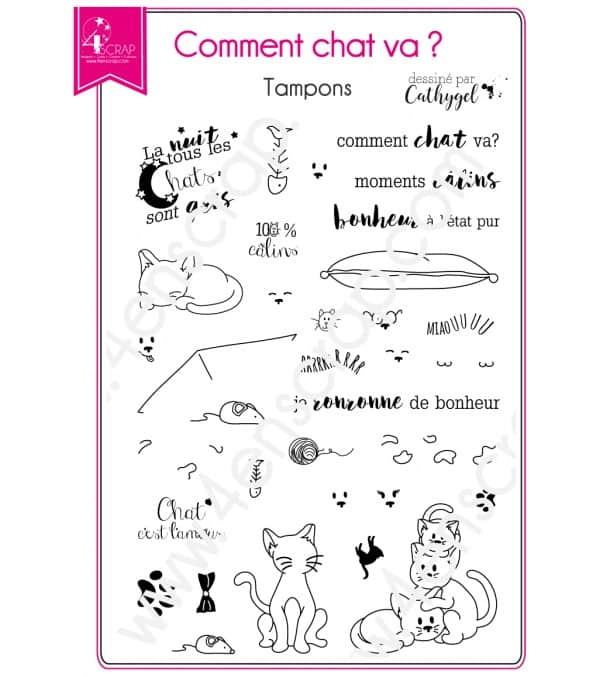Tampon transparent Scrapbooking Carterie animal  - Comment chat va