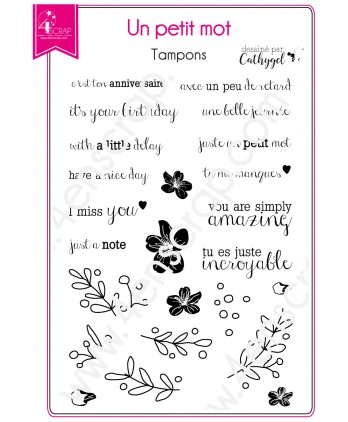 Clear stamp Scrapbooking Card Making flower - A little note