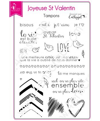 Clear stamp Scrapbooking Card Making heart - Happy Valentine's Day