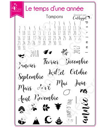 Clear stamp Scrapbooking Card Making calendar - A time of year