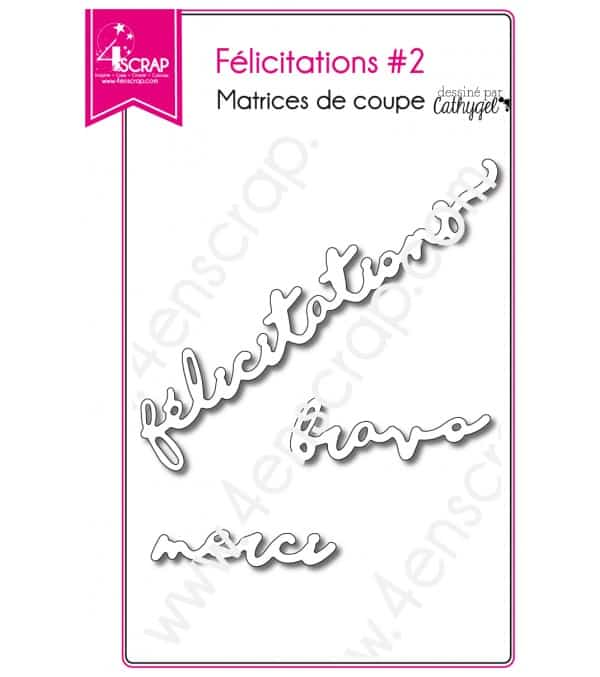Cutting die Scrapbooking Card making wedding word - Congratulations 2
