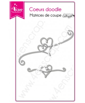 Cutting die Scrapbooking Card making love wedding - Doodle hearts