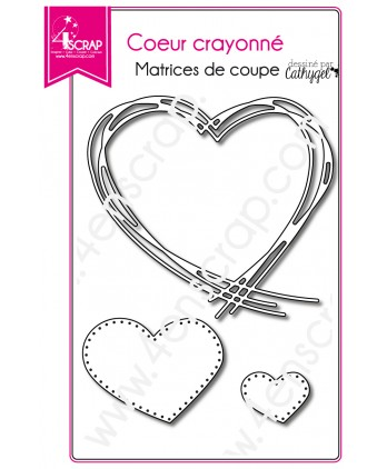 Cutting die Scrapbooking Card making wedding love - Hatched heart