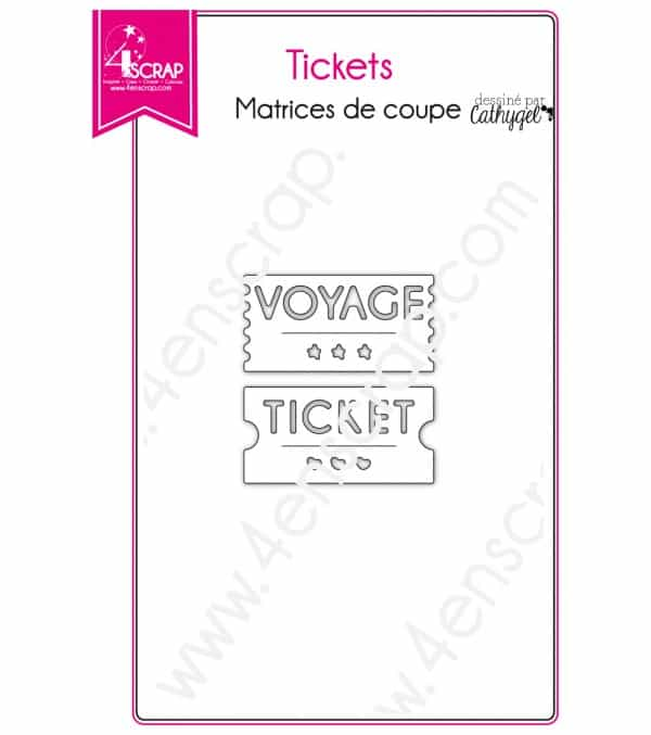 Matrice de coupe Scrapbooking Carterie voyage loisir - Tickets