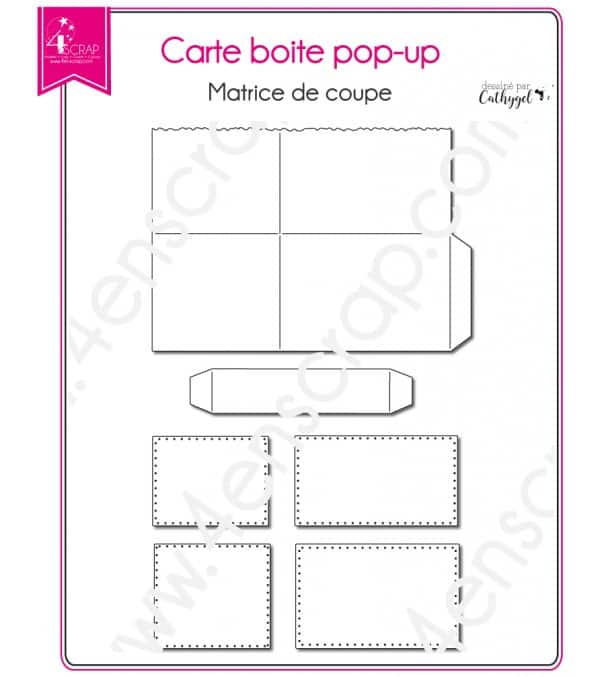 Matrice de coupe Scrapbooking Carterie - Carte boite pop up
