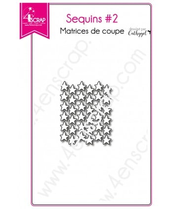 Matrice de coupe Scrapbooking Carterie étoile - Sequins 2