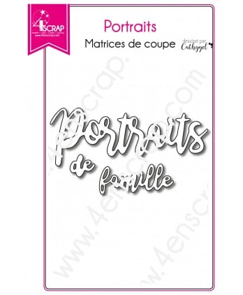 Matrice de coupe Scrapbooking Carterie mot - Portraits